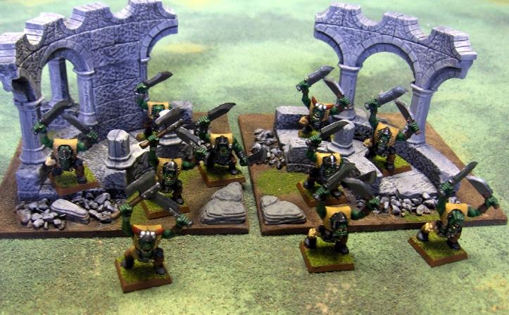 Two Orc Boyz Units