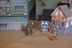 Mat and cardstock buildings