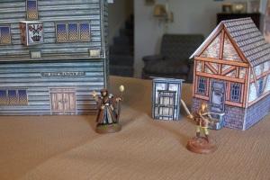 Mat and cardstock buildings