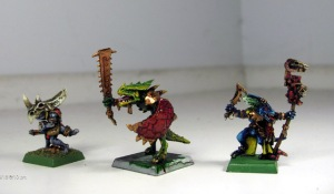 Saurus Warrior and Skink Priests
