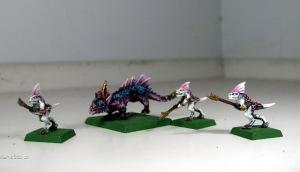 Salamander hunting party
